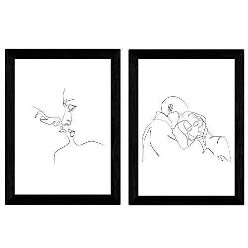 Láminas Besos y abrazos